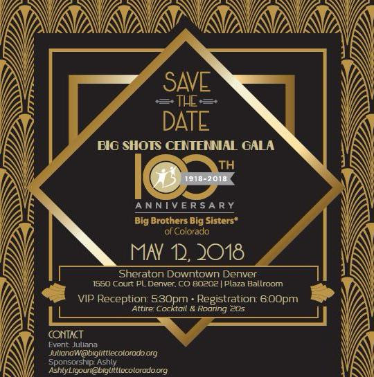 SAVE THE DATE! Big Shots Centennial Gala